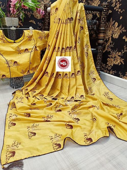 Pure Dolla Fabric Saree with designer Blouse