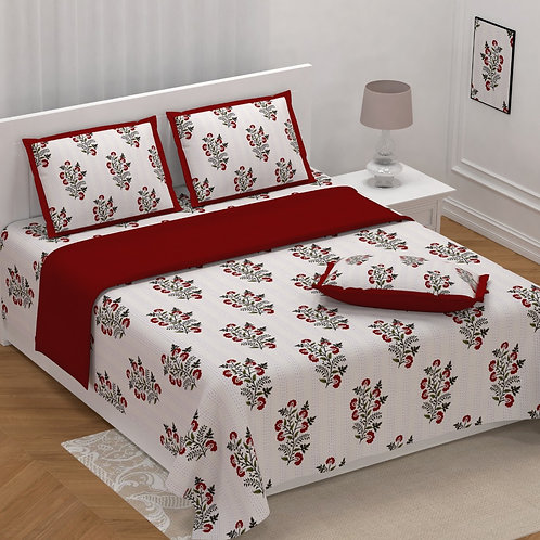 BODERS PURE COTTON KING BEDSHEETS