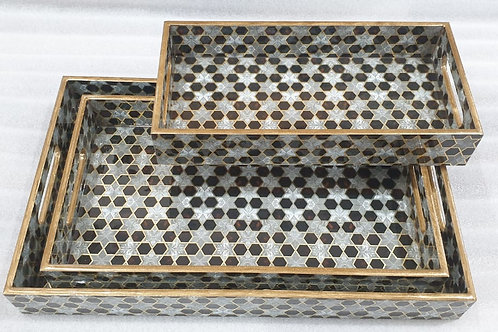 Gold embossed tray set