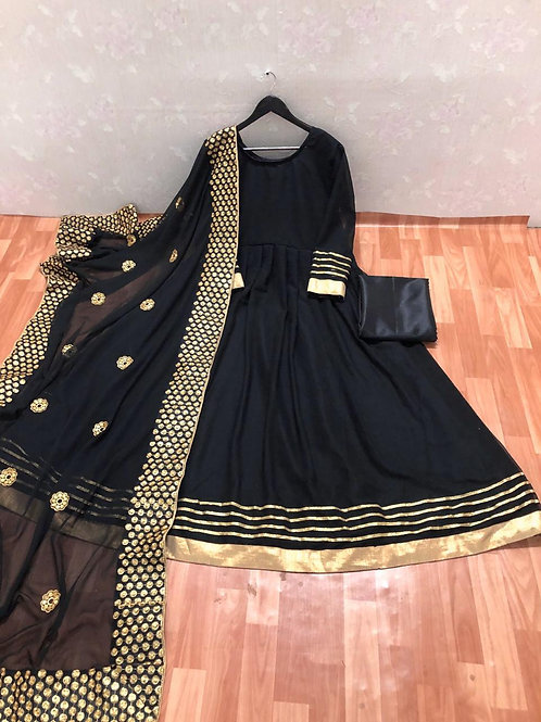 GEORGETTE SUIT WITH LLES BORDAR
