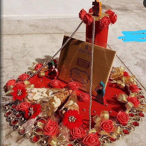 Designer marriage dry fruit thalli
