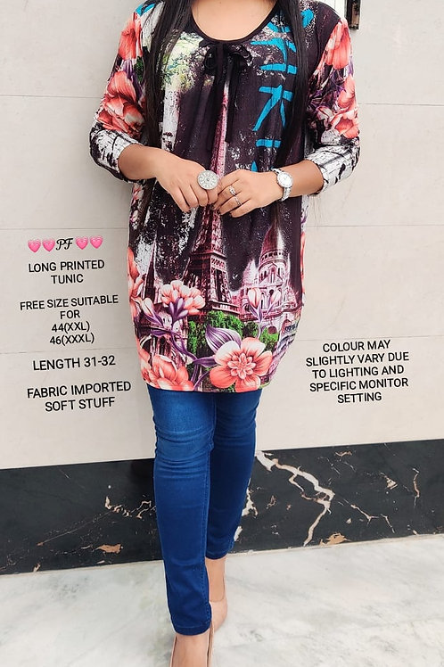 IMPORTED LONG PRINTED TUNIC