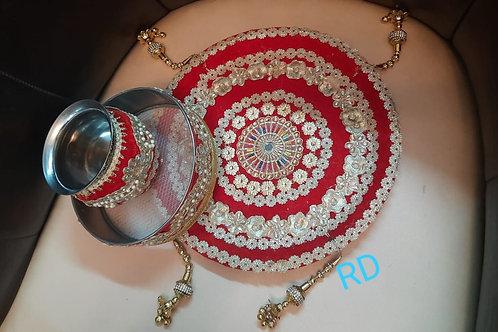 Beautiful light weight Karwachauth Thali set