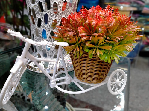 Cycle with artificial flowers