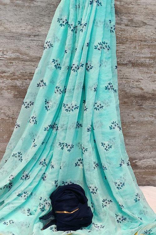 najmeen zari paipan fabric Saree