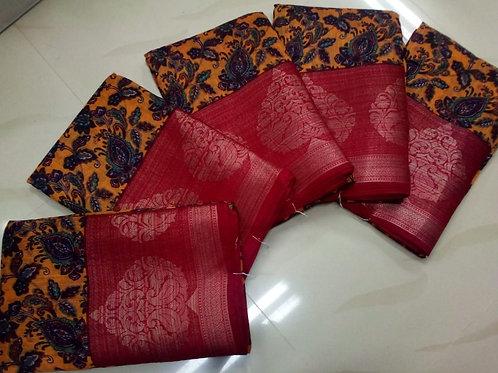 Manali brasoo weaving design boder lase sarees