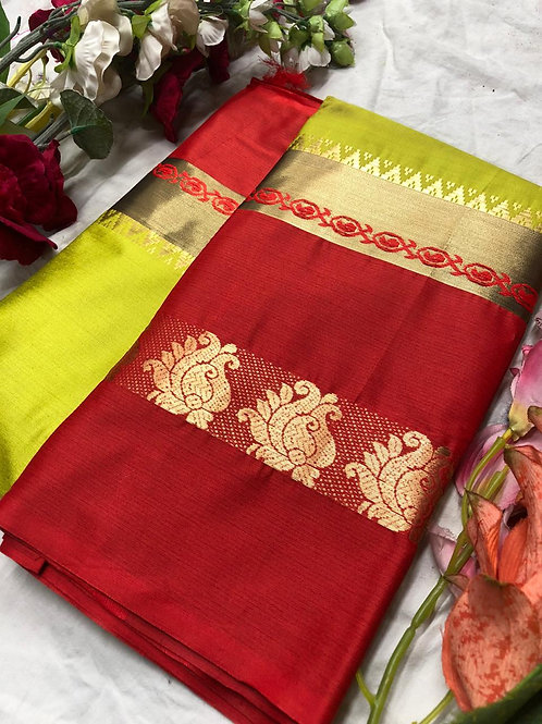 Mayur Saree (Cotton Silk With Running Blouse)