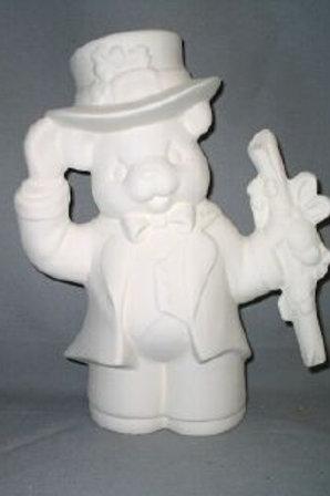 Irish bear with top hat