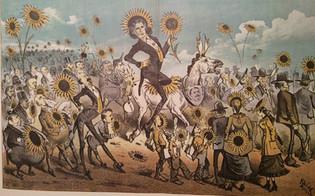 Džordž Frederik Keler, Oskar Vajld u poseti San Francisku, karikatura iz časopisa Wasp, 1882.