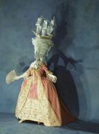 Rekonstrukcija modnog trenda 18. London, 1777. Instituta za kostim u Kjotu