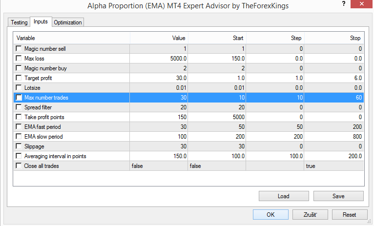 Get MT4 able to trade this grid strategy: Alpha Proportion