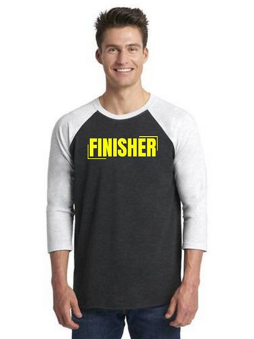 """""""FINISHER"""" 3/4 Length Sleeve Unisex T-shirt"""