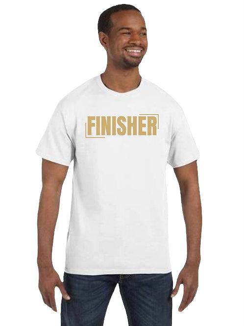 """""""FINISHER"""" White Unisex T-Shirt"""