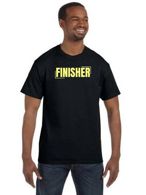"""""""FINISHER"""" Black Unisex T-Shirt w/ Neon Letter"""