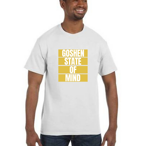 """Goshen State Of Mind"" White Unisex T-Shirt"