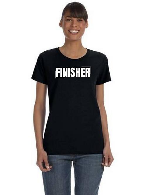 """FINISHER"" Women's Black T-Shirt"