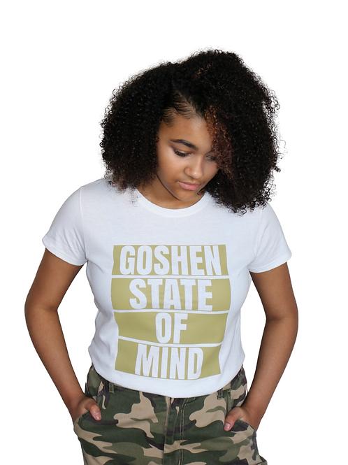 """Goshen State Of Mind"" White Unisex T-Shirt"
