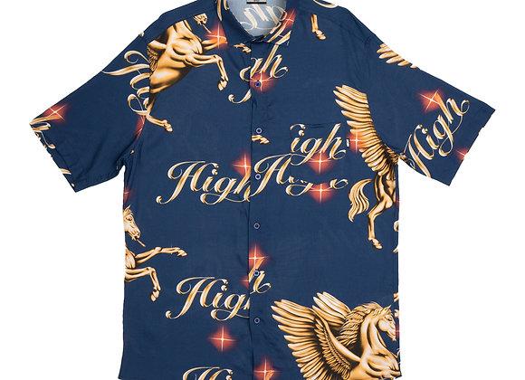 button shirt high ''pegasus' navy