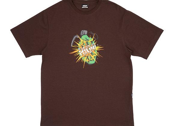 t-shirt high ''granade'' brown