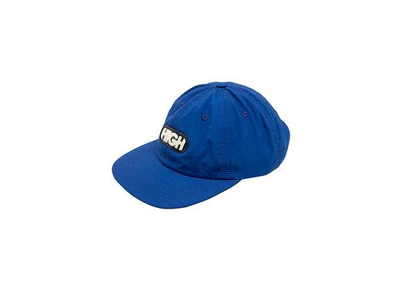 6panel high logo blue