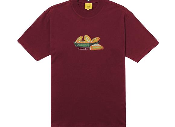 t-shirt class ''pain brésilien'' burgundy
