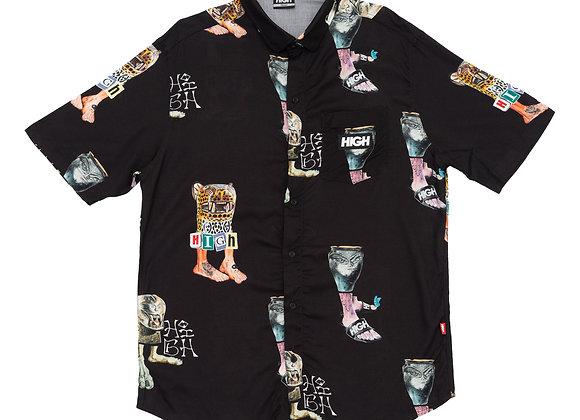 button up shirt high ''mitologi'' black