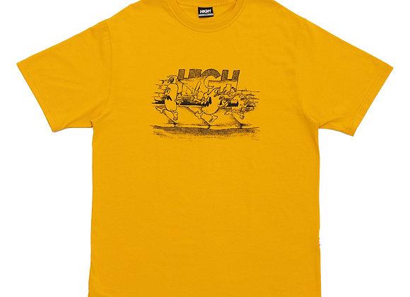 t-shirt high ''fyah gang'' yellow