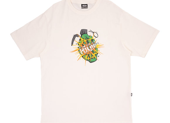 t-shirt high ''granade'' white