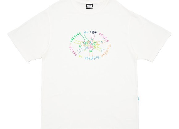 t-shirt high ''union'' white