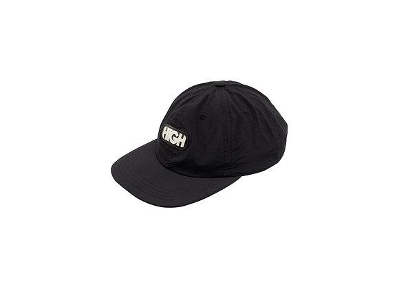 6panel high logo black