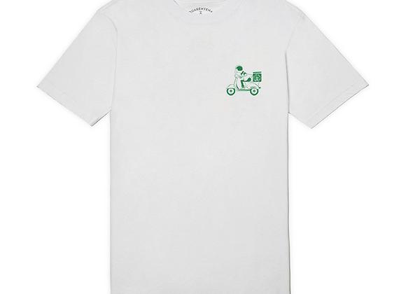 t-shirt à Novos Artistas ''SLICE'' branco