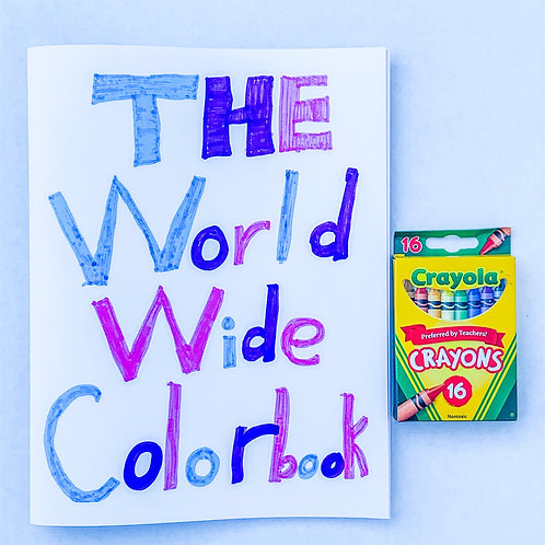 The World Wide Colorbook and Crayons