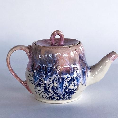 Teapot - Pink Floral