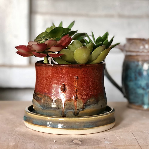 Copper Teal All In One Planter