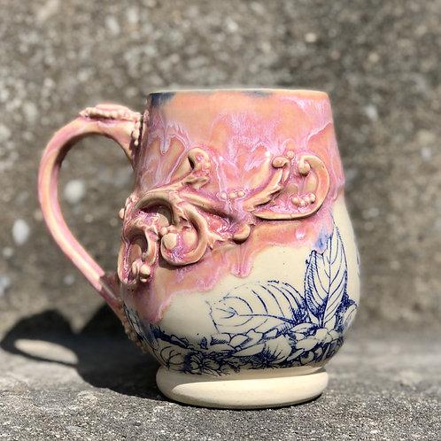 Rococo Floral Mug - Pink