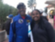 Retired Astronaut WInston Scott withMaya Ayalew