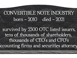 OTC Markets Death Spiral Funders Days are Numbered