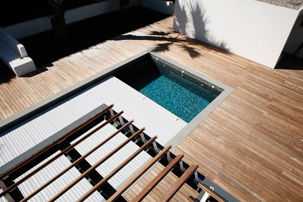 Volet piscine immergé