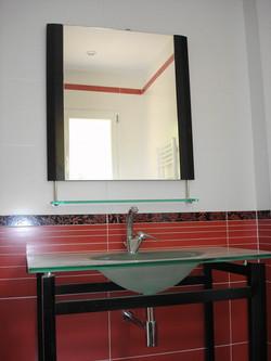 Salle de bain vasque en verre