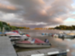 Boat dockage at Chesley's Resort