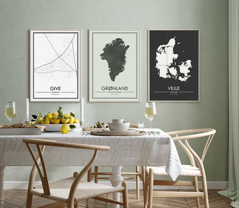 By og kort plakater fra Plakatio