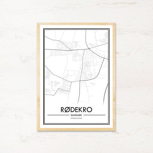 Rødekro plakat - Byplakat fra IMAGI.dk
