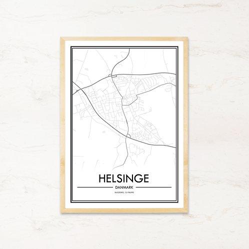 Helsinge plakat - Byplakat fra IMAGI.dk