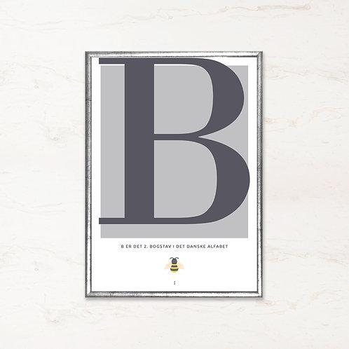 B - Bogstavsplakat
