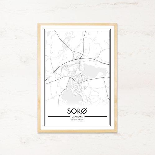 Sorø plakat - Byplakat fra IMAGI.dk