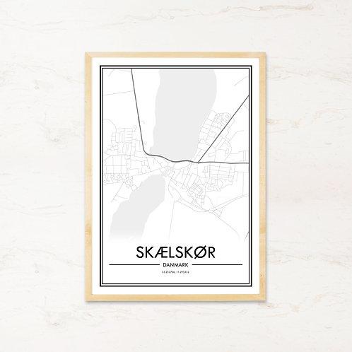Skælskør plakat - Byplakat fra IMAGI.dk