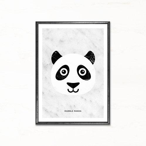 Pandabjørnen - plakat med marmormotiv