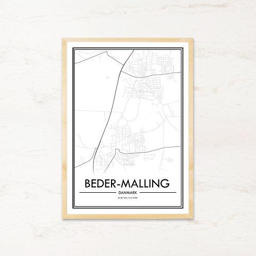 Beder-Malling plakat - Byplakat fra IMAGI.dk