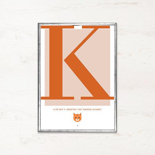 K - Bogstavsplakat
