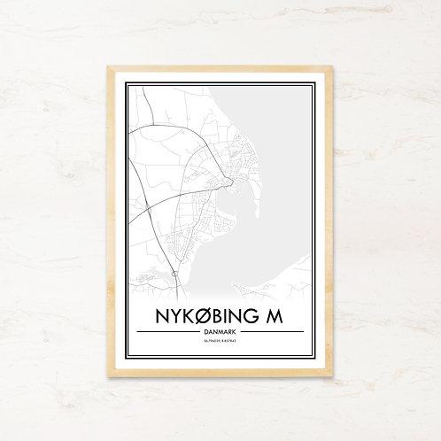 Nykøbing M plakat - Byplakat fra IMAGI.dk
